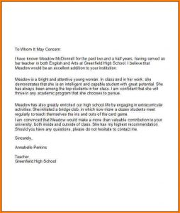 recommendation letter for high school student scholarship recommendation letter for high school student high school student recommendation letter