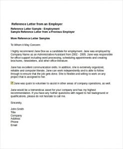 recommendation letter for job job reference letter templates free sample example format with job reference letter