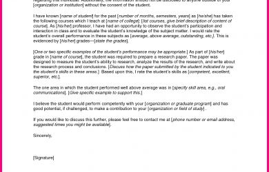 recommendation letter for student going to college sample letters of recommendation for graduate school from employer