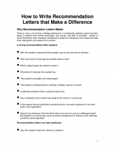 recommendation letter for students how to write a recommendation letter oalbanl