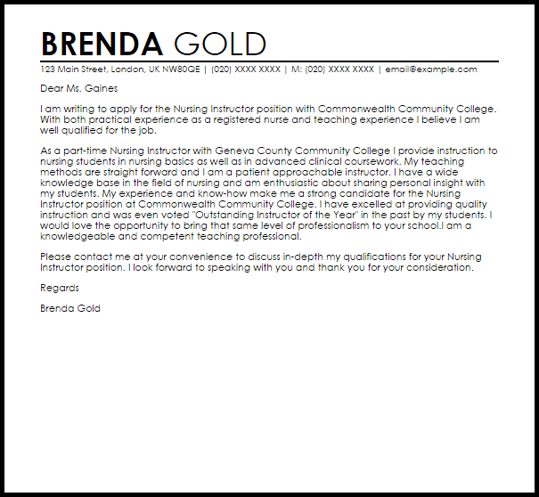 recommendation letter for students