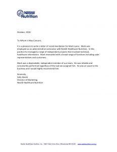 recommendation letter format recommendation letter sample 00291