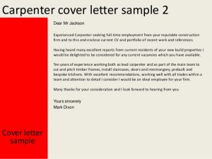 recommendation letter samples carpenter cover letter