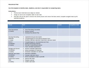 recruitment plan templates free download recruitment plan template doc format