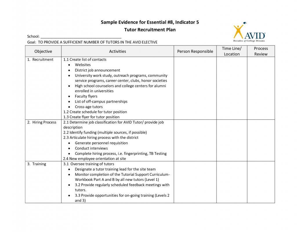 recruitment plan templates