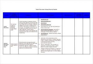 recruitment plan templates recruitment strategy planning template free doc format
