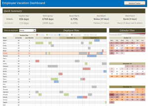 recruitment planner template employee vacation dashboard full view
