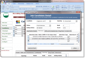 recruitment planner template recruiting template candidate detail