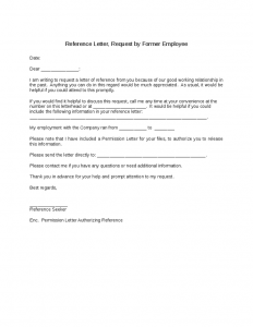 reference letter for employees reference letter requested by employee