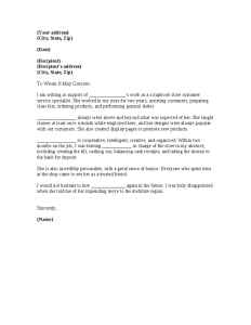 reference letters for employment job reference letter retail