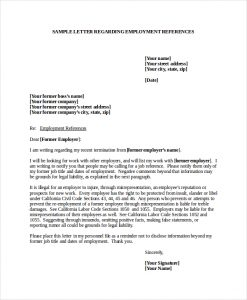 reference letters for employment sample employment reference letter