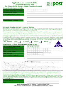 registration form template word application for payment of the tv licence fee d