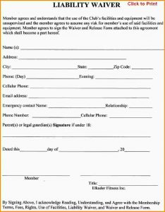 release of liability form liability waiver template liability release waiver form template 611040