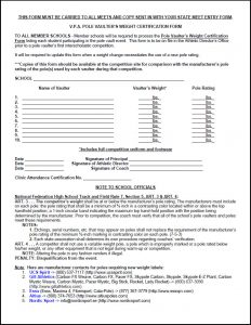 release of liability form template vpa pole vault weight form
