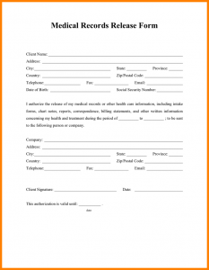 release of medical records form medical records release form medical records release form