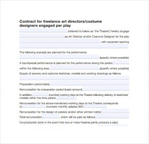 rent contract simple freelance design contract template