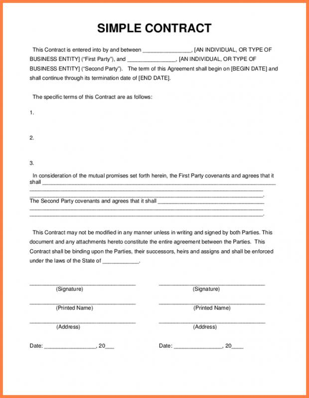 rent contract simple
