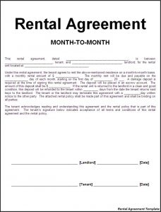 rent contract template rental agreement template