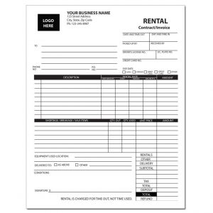 rent invoice template dnp