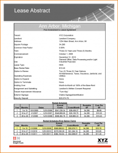 rent receipt form lease abstract template ar