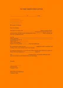 rent receipt form proof of income letter for apartment income verification letter pdf