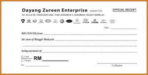 rent receipt format sample of official receipt
