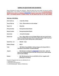 rent receipt format sample of quatation for car rental page
