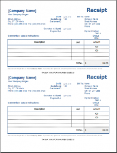 rent receipts template word general receipt