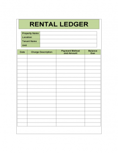rent to own agreement template rental ledger sample template l
