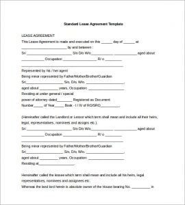 rental agreement doc free standard lease agreement template word doc