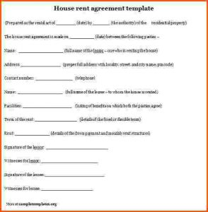 rental agreement format rental agreement format house rent agreement template