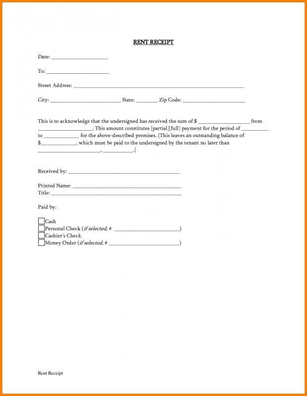 rental agreement letter