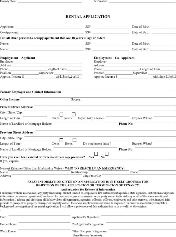 rental agreement month to month