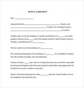 rental agreement pdf generic rental agreement pdf