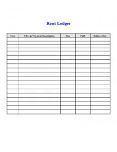 rental contract template rental ledger l