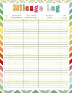 rental house application printable mileage log ddddeffbeaa