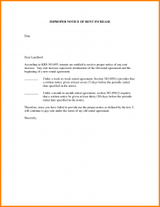 rental increase letter notice of rent increase letter sample