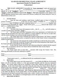 rental lease agreements alabama