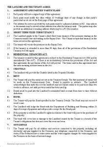 rental lease agreements residential tenancy agreement short term