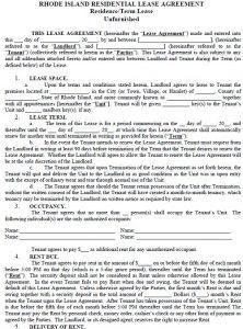 rental lease agreements rhode island