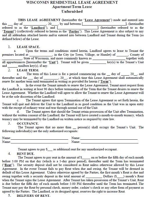 rental lease agreements