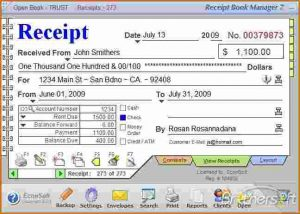 rental payment receipts how to fill out a rent receipt receipt book manager