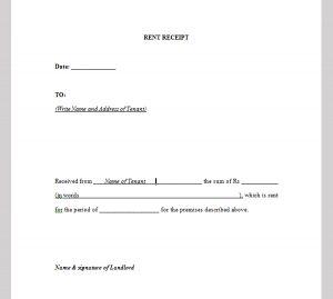 rental payment receipts rent payment receipt template