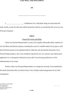 rental receipt pdf maryland last will and testament form