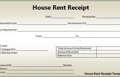 rental receipts template word house rent receipt template