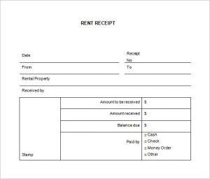 rental receipts template word rental receipt template word free download