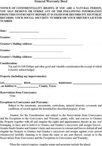 rental reference form texas general warranty deed