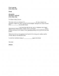rental reference letter rental reference letter from property manager