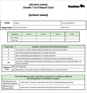 report card template report card template pdf download