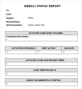 report card templates weekly status report template aejack